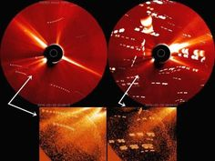 Enorme quantidade de ufos em formação no Sol? Capturado por Câmera de Satélite!!
