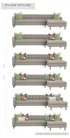 Decor, Living Room Inspiration, Sofa Styling, Interior Design Tips, Home Interior Design, Pillow Styling, Decor Guide, House Interior, Home Decor Tips
