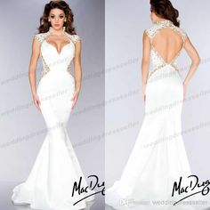Wholesale - 2014 High Neck Mermaid Beaded Sequin Backless Evening Gowns Sexy Free Shipping Miss Pageant Dress For Teen Prom Gown. $129