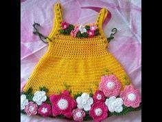Easy How To Make Crochet Baby Dress - YouTube