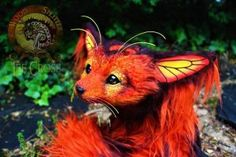 Sold Poseable Monarch Fox By Wood Splitter Lee Wood Splitter
