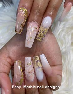 24 chic design ideas for marble nail art – marble nails, chic nail art designs, nail …, … – Wanderlust Chic Nail Art, Fancy Nail Art, Chic Nails, Stylish Nails, Bling Nails, Stiletto Nails, Swag Nails, Gel Nails, Nail Polish