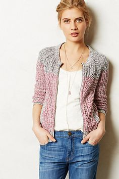 Ombre Knit Bomber #anthropologie