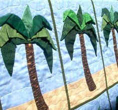 Palm Tree Quilt - would be cute mixed in with fish & sand castles etc...