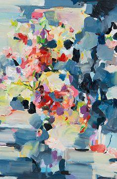 Abstract art Print, blue