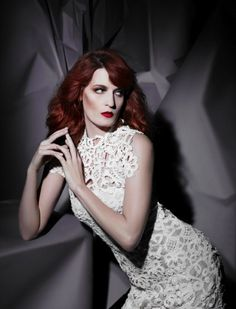 Florence Welch photographed by Karl Lagerfeld