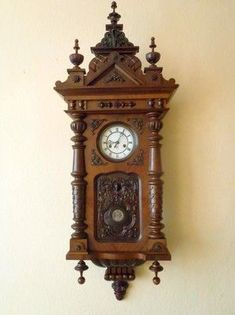 Beautiful antique rarity wall clock Gustav Becker in very good condition.
