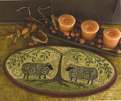 Primitive Folk Art Punchneedle Pattern:  SHEPARDS SHADE -- Weavers Cloth Included. $13.50, via Etsy.