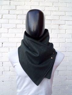 Hommes foulard. Hommes de cheminée Wide vert forêt par CheriDemeter, $32.50