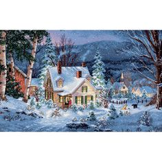 """Gold Collection Winter's Hush Counted Cross Stitch Kit-20""""X14"""" 16 Count 