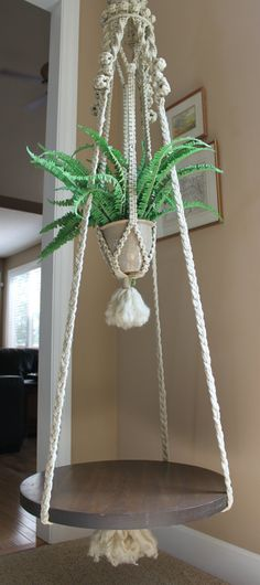 Fabulous handmade hanging macrame plant holder by goodpennydesigns