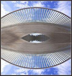'The Calatrava Eye' - Liège-Guillemins Station, Liège/Luik, Belgium;  designed by Santiago Calatrava;  photo by Bert Kaufmann