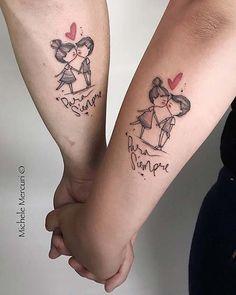 Tattoo//Tattoos//Tattoos for women//tattoo ideas//tattoo des Sleeve Tattoos For Women, Tattoos For Women Small, Small Tattoos, Fingerprint Tattoos, Marriage Tattoos, Simple Line Tattoo, Tattoo Diy, Aquarell Tattoos, Paar Tattoo