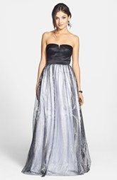 Hailey Logan Satin & Glitter Mesh Gown (Juniors) I don't know why the picture quality sucks...