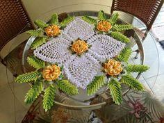 Home Decor Crochet Patterns Part 58 - Beautiful Crochet Patterns and Knitting Patterns Crochet Diagram, Crochet Motif, Crochet Doilies, Crochet Flowers, Knit Crochet, Crochet Home Decor, Crochet Crafts, Crochet Projects, Thread Crochet