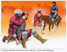 Angus McBride - Soldados de infantería bizantinos C 900-1204 DC
