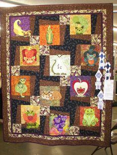Garden Patch Cats (patterns by Helene Knott) by Michele Byrum