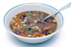 Hearty Stove Top Vegetable Beef Soup with Potatoes: Hearty Vegetable Beef Soup Beef Soup Bones, Beef Stew Stove Top, Bone Soup, Beef Barley Soup, Beef Soup Recipes, Vegetable Recipes, Herb Recipes, Crockpot Recipes, Healthy Recipes