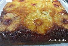 Bolo de abacaxi caramelizado - Receita do Dia