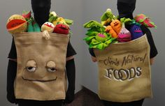 Picture of Grocery Bag of Muppet Fruit and Vegetables Costume: Grocery Bag of Muppet Fruit and Vegetables Costume by kieshar on instructables Tree Halloween Costume, Halloween Ideas, Jim Henson Puppets, Nutrition Month Costume, Vegetable Costumes, Puppet Costume, Fruit Costumes, Puppet Making, Creative Costumes