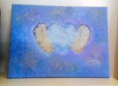 Heart Shaped Hand Prints on 30 x 40 Canvas