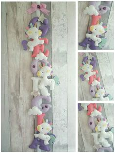 Unicorn garland unicorn felt name banner by TheLittleElephantGB