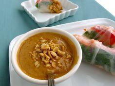 Peanut Dipping Sauce Recipe   Recipes   Spring Rolls with Peanut Sauce   Simple Thai Recipe