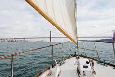 Set sail down the Tejo along the shores of ancient Lisbon. Set Sail, Lisbon, Sailing, Portugal, Europe, Tejidos, Candle