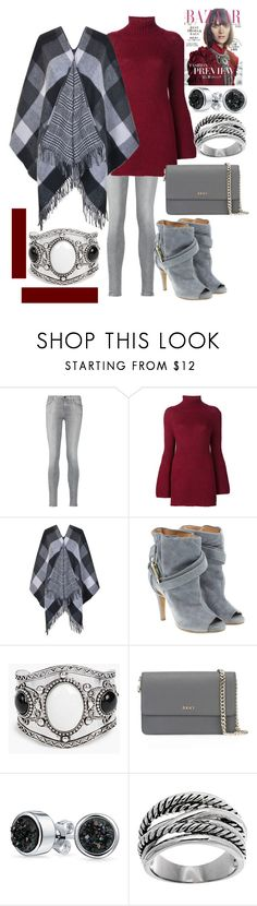 """""""Maroon makes it Bloom🍷"""" by mdfletch ❤ liked on Polyvore featuring 7 For All Mankind, Rosetta Getty, French Connection, Maison Margiela, Boohoo, DKNY, Bling Jewelry, Lord & Taylor and maroon"""