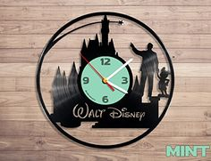 Amazon.com: Disney vinyl record wall clock: Home & Kitchen