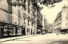 Vue de la rue des Fossés-Saint-Jacques vers 1905 (Paris 75005)