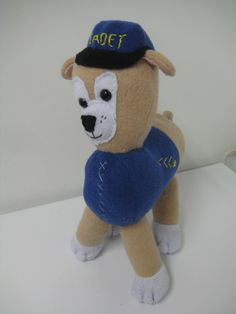 How To: Cadet The Police Puppy Dog Fleece, Police Dogs, Bee, Puppies, Toys, Fictional Characters, Puppys, Bees