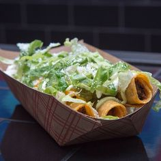 "Secret Menu Items: From Taquitoria, (168 Ludlow St.) the ""Chronic Style"" Taquitos. Order them this way, and you'll get a cigar-sized treat w/ nacho & cotija cheeses, sour cream, pickled jalapeño relish, guac sauce and shredded lettuce. YUM."