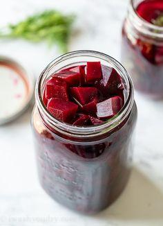 Beet Recipes, Canning Recipes, Soup Recipes, Salad Recipes, Refrigerator Pickled Beets, Refrigerator Pickles, Pickled Beets Recipe, Quick Pickled Cucumbers