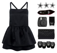 """Dark Night Sky"" by starit ❤ liked on Polyvore featuring Edit, Eichholtz, Chanel, Fujifilm, Butter London and Yves Saint Laurent"