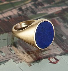 Men's Mid-Century 18k Lapis Lazuli Signet Ring, $1,200.00