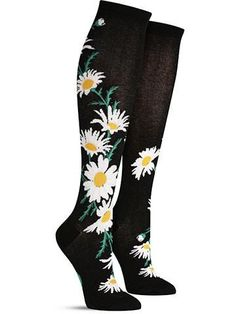 9c67215904f These cute daisy knee high socks are a romantic addition to any woman s sock  drawer