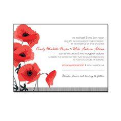 CK Paper Designs - Red Poppies Invitation Suite