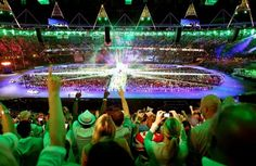 The Closing Ceremony at the Olympic Stadium, on the final day of the London 2012 Olympics. (© PA Wire Press Association Images)