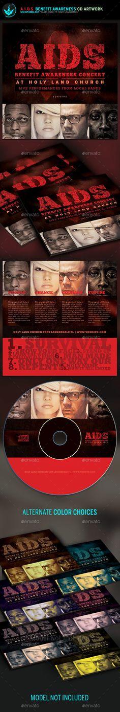 AIDS Benefit Awareness CD Artwork Template