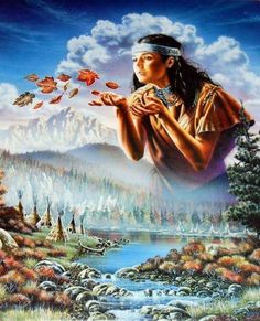 Maiden of the Wind. Leanin' Tree poster Art by David Penfound, Native American Girls, Native American Pictures, Native American Artwork, Native American Beauty, Indian Pictures, Native American Artists, American Spirit, American Indian Art, American Indians