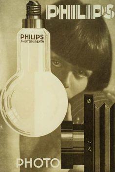 Photo lamps Photomirenta advert from 1929| #lighting #retro #vintage…