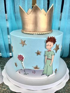 The Little Prince Birthday Party Ideas Prince Birthday Theme, 1st Birthday Boy Themes, 4th Birthday Cakes, Party Themes For Boys, Baby Boy Birthday, Boy Birthday Parties, The Little Prince Theme, Little Prince Party, Prince Cake
