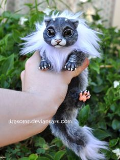 One of my personal favourites of my first baby dragon spirits ^^ This one is already SOLD ----- Head and paws are casted in resin from an original sculpture, painted with acrylics and sealed with m...