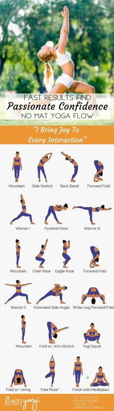 "How To Be Passionate And Confident: Standing Strong Yoga Printable. - How To Be Passionate And Confident: Standing Strong Yoga Printable. ""I bring joy to every interaction"" learn to love yourself and your abilities and confidence will build in you. Pilates Workout, Intense Cardio Workout, Pilates Reformer, Cardio Workouts, Yin Yoga, Kundalini Yoga, Pranayama, Yoga Handstand, Yoga Flow Sequence"