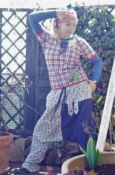 Handmade Einzelstück Langarm Shirt Alternativ Raglan, Pullover, Punk, Unisex, Apron, Shirts, Vintage, Fashion, Summer Days