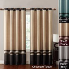 Add a fresh splash of color to your home and windows with this 84-inch grommet window panel available in multiple color combinations. Made of faux silk, these grommet-top window panels will add an interesting design detail to windows.