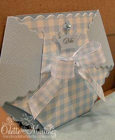 Baby Boy Diaper Card - Handmade by Odette