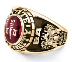Showcase your college graduation, achievements, and memories with a college class ring. Explore Jostens custom college rings and jewelry that are sure to shine. Mens Class Rings, Rings For Men, Ring Designs, College Rings, Heirloom Rings, Graduation Jewelry, Jewelry Accessories, Jewelry Design, Gold