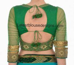 Trendy Back Neck Blouse | Latest Blouse Designs